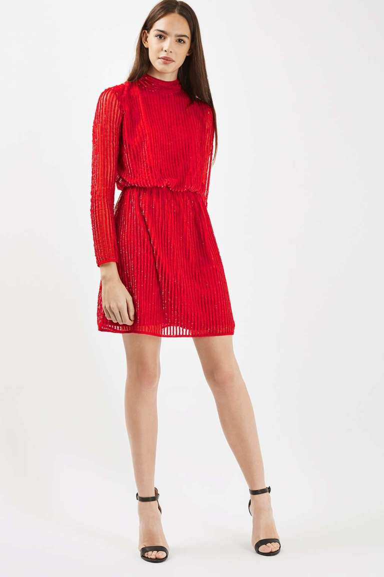 Claudia Winkleman Red Rollneck Dress Strictly Christmas