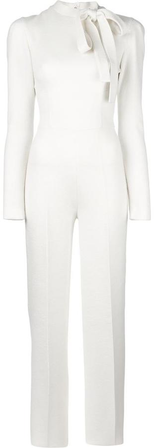 ermanno-scervino-neck-tie-long-sleeved-jumpsuit