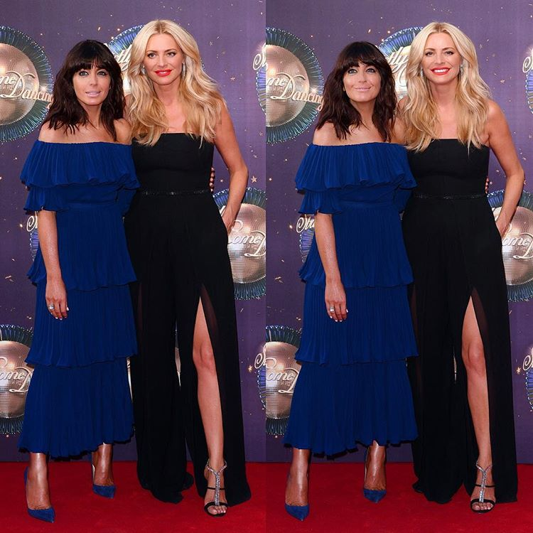 Tess Daly Claudia Winkleman Strictly Come Dancing jumpsuit dress 2017