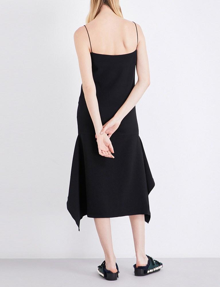 Dion LeeSpaghetti-strap crepe dress back view