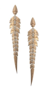 Stephen Webster Magnipheasant Pave Earrings in Rose gold and white diamonds