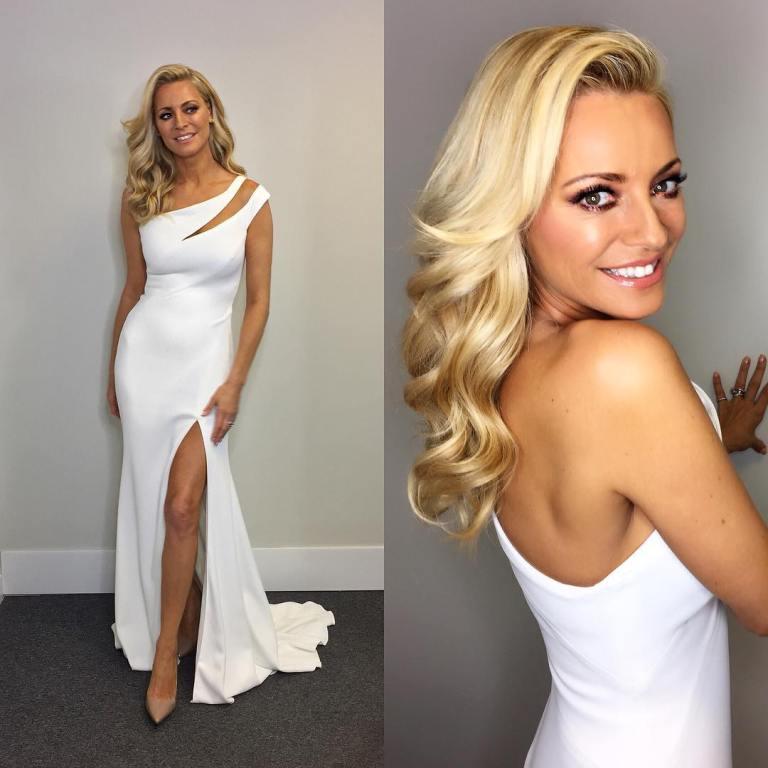 Tess Daly White Dress Mini Cutout