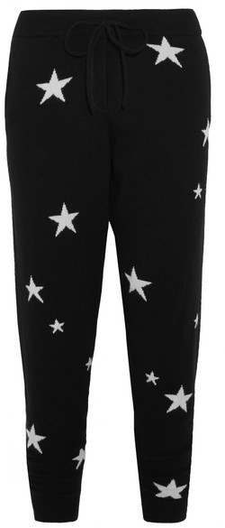 Chinti & Parker Star Cashmere Track Pants