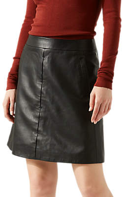 Jigsaw Leather Mini Skirt