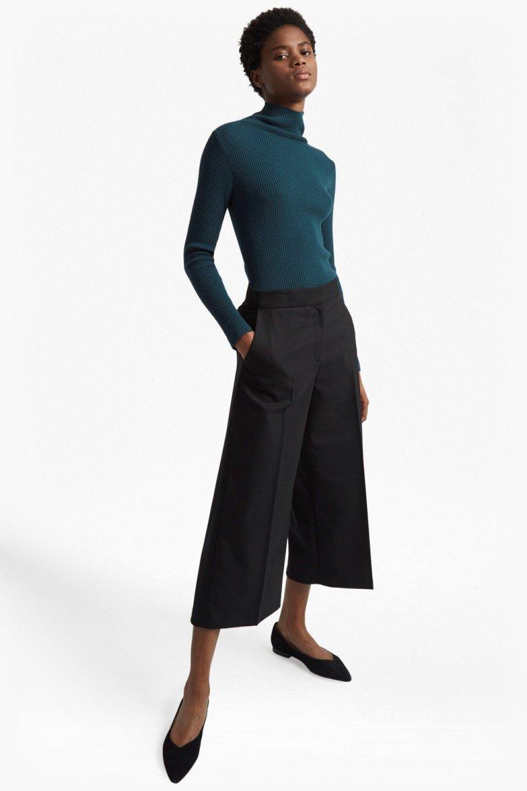 nicola-knits-high-neck-jumper green