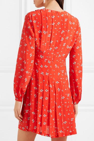 Rixo London Harperfloral-print silk mini dress back view