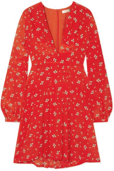 Rixo London Harperfloral-print silk mini dress