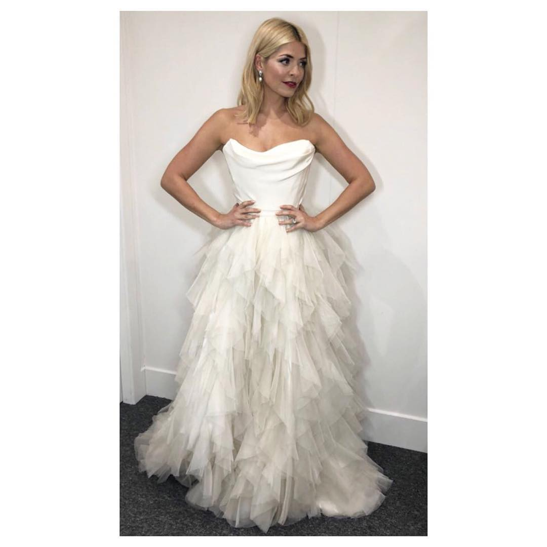 Holly Willoughby White Fairytale Dress Dancing On Ice Week
