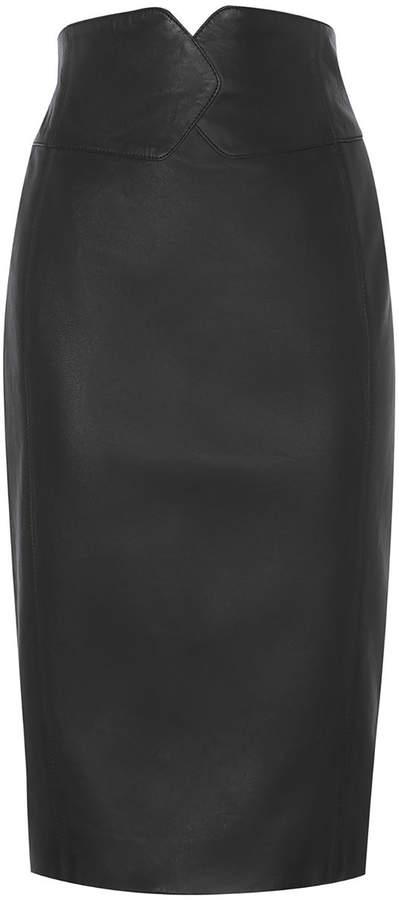 Karen MillenLeather Pencil Skirt