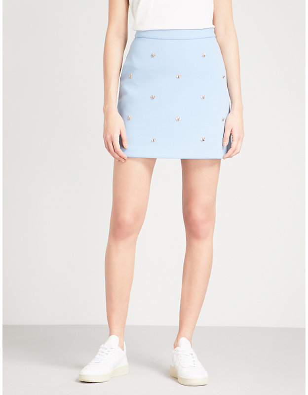 Maje Bee Embellished Skirt