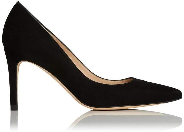 Lk Bennett Floret Pointed Court Shoes Black