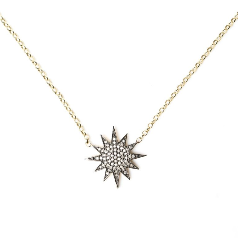 Kirstie Le Marque Diamond Starburst Necklace