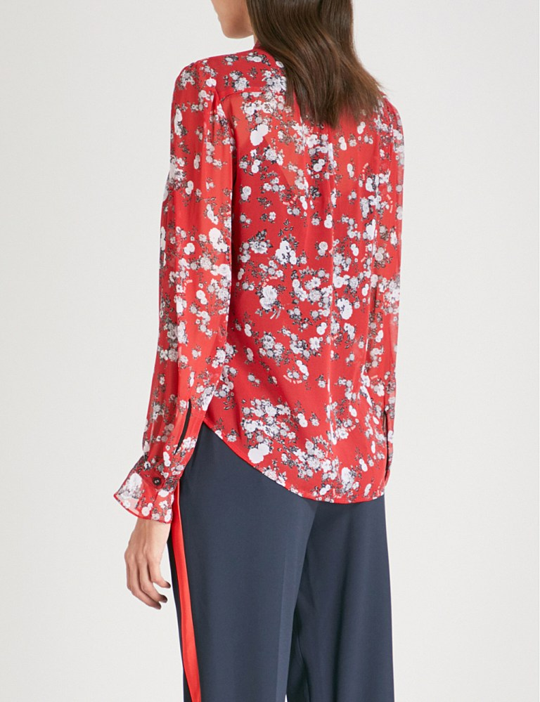 Rag & BoneSusan silk-chiffon shirt back view