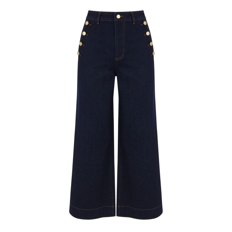 Warehouse nautical wide leg jeans