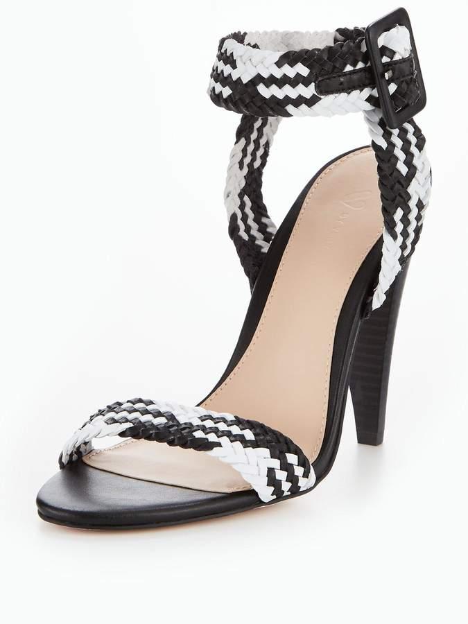 V by Very Havana Cone Heel Woven Sandal