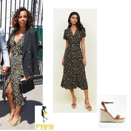 6cc09547ab New Look Black Bright Floral Button Through Midi Tea Dress – Fashion ...