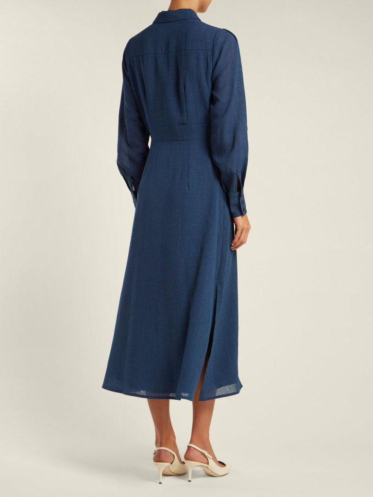 8784fa7f811 Holly Willoughby Blue Maxi Shirt Dress This Morning September 2018 ...