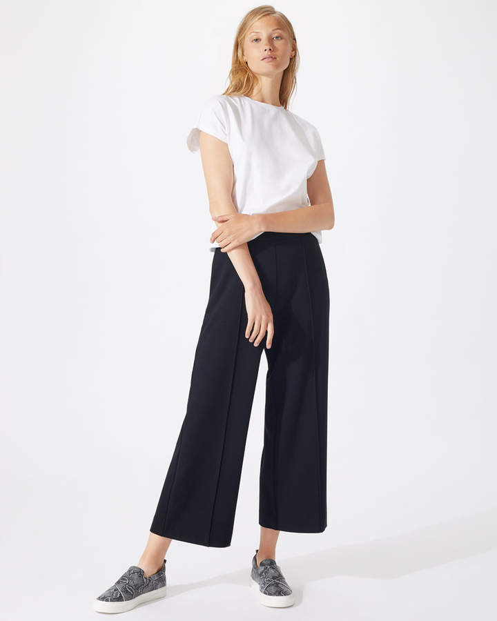 Sport Luxe Wide Leg Crop Trousers