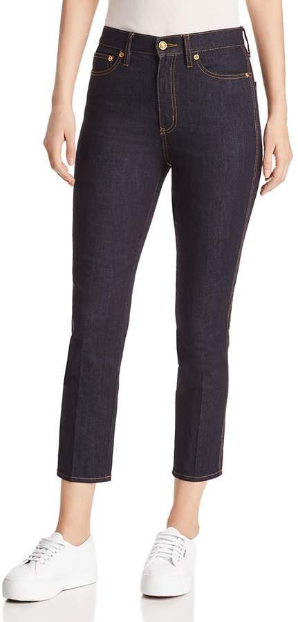 Tory Burch Rebecca High-Rise Cropped Skinny Jeans in Rinse Wash