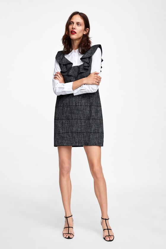 Zara Contrasting Check Dress