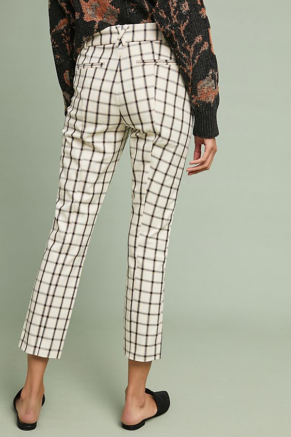 AnthropologieThe Essential Slim Trousers back view