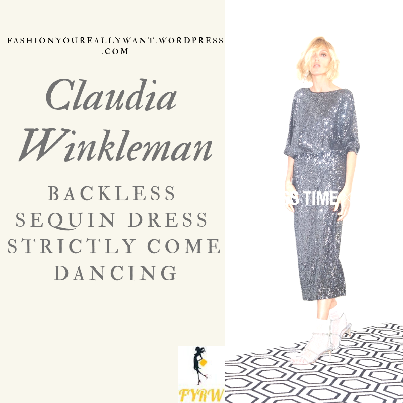 Where to get Claudia Winkleman Strictly outfit backless black silver sequin dress blog October 2018