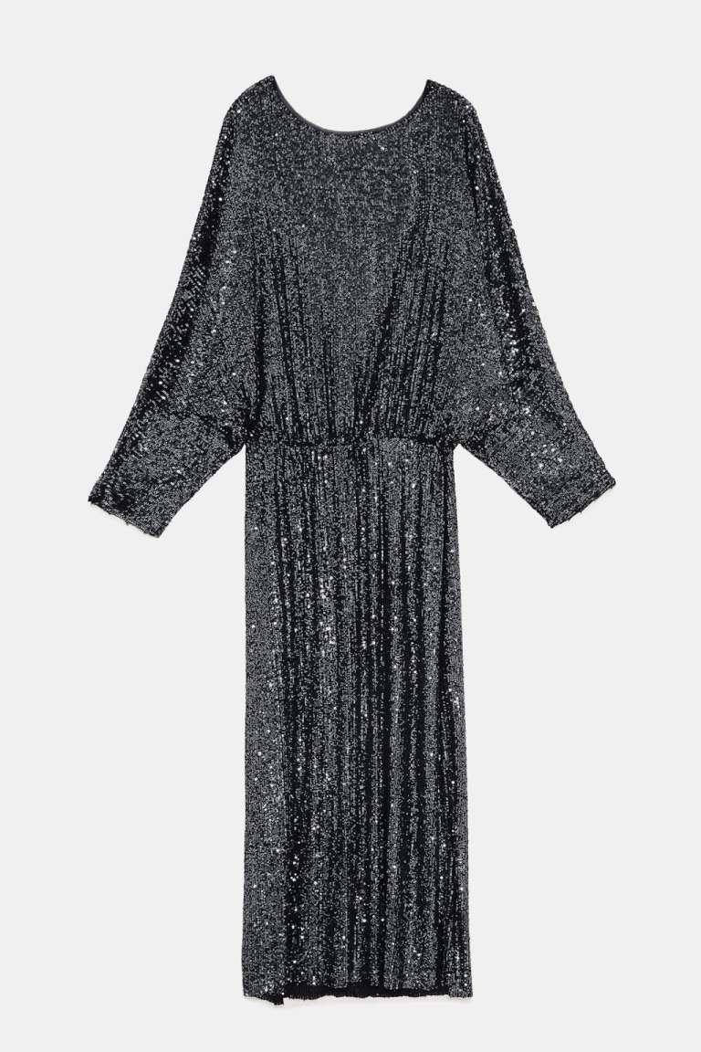 zara silver backless sequinned dress v2