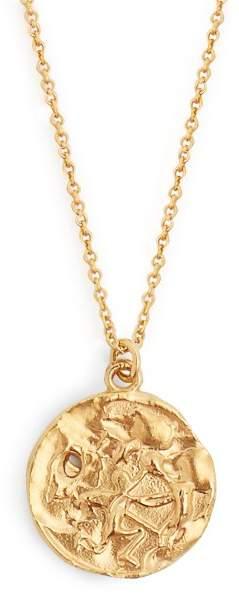 Alighieri Sagittarius gold-plated necklace
