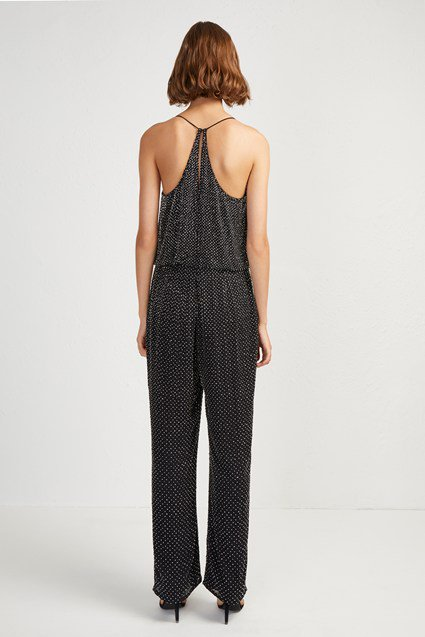 French Connection Clara Embellished Strappy Jumpsuit back view