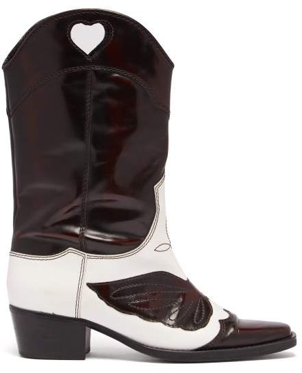 Ganni Marlyn Western Leather Boots
