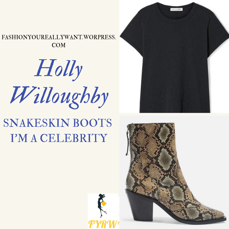 03a02bd12f4 Holly Willoughby Snakeskin Boots I m a Celebrity November 2018 ...
