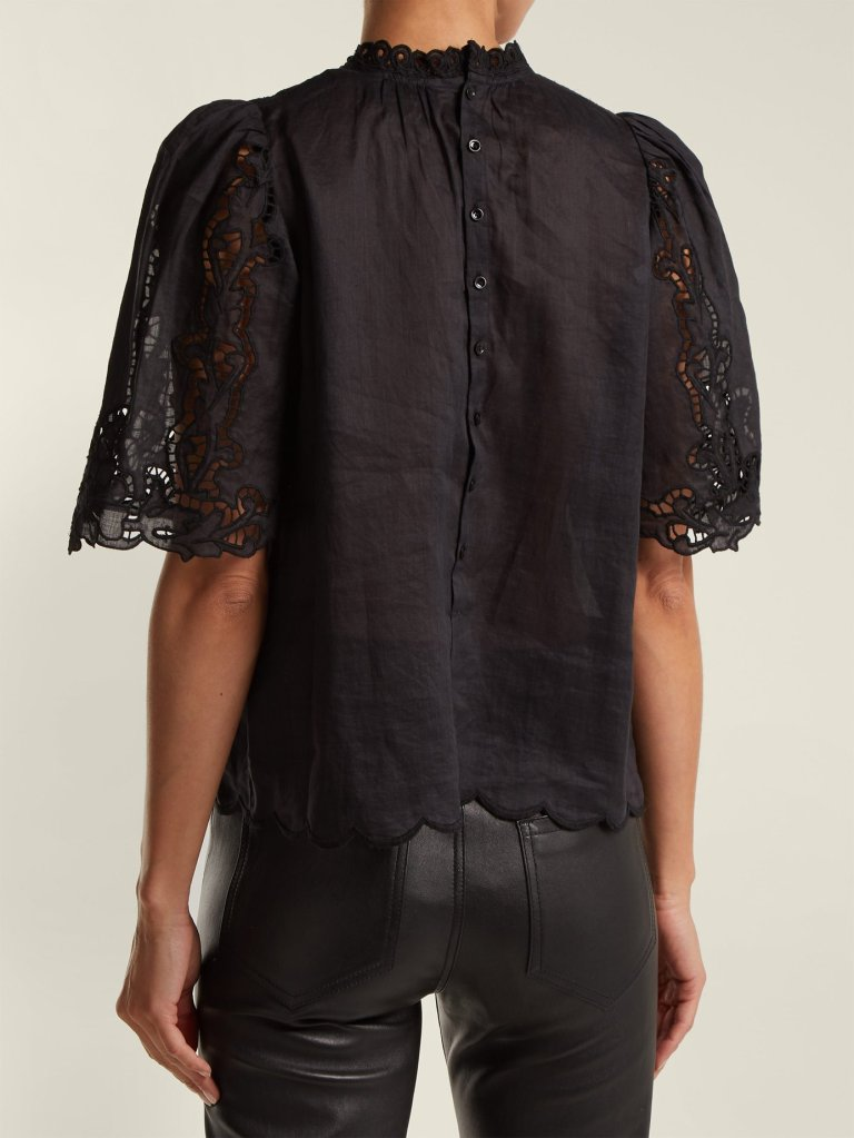 Isabel Marant Mumba Broderie Anglaise Top back view