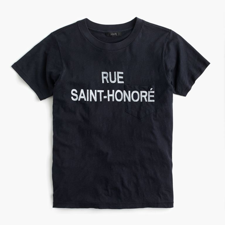 J.Crew Rue Saint-Honoré graphic T-shirt