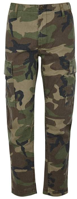 REDONE Camouflage twill cargo trousers