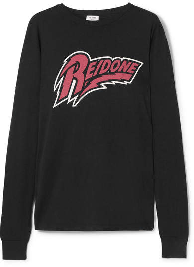 REDONE Stardust Printed Cotton-jersey T-shirt