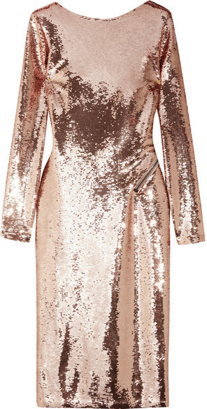 TOM FORD - Open-back Sequined Satin Dress