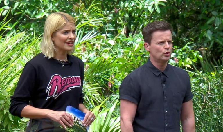 where to get holly Willoughby re done sweater camouflage trousers I'm a Celebrity November 2018