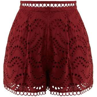Zimmermann Jaya Wave Cotton Shorts