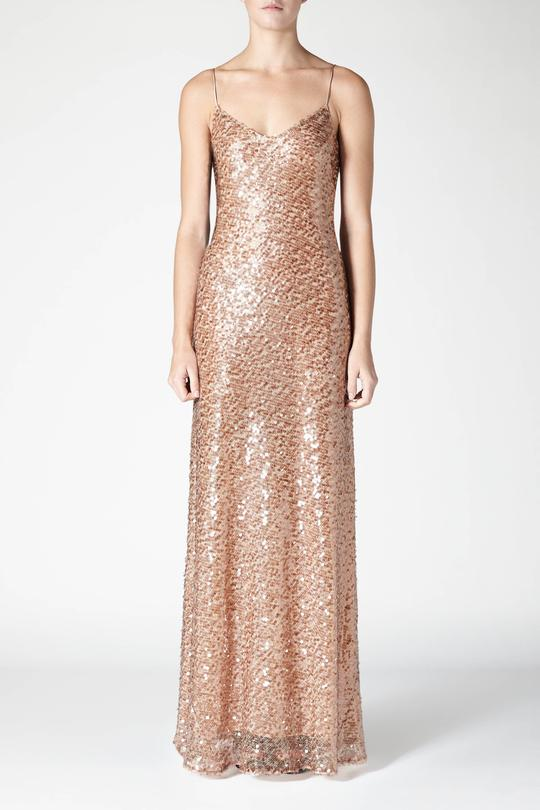 Galvan Estrella Spaghetti Strap Dress