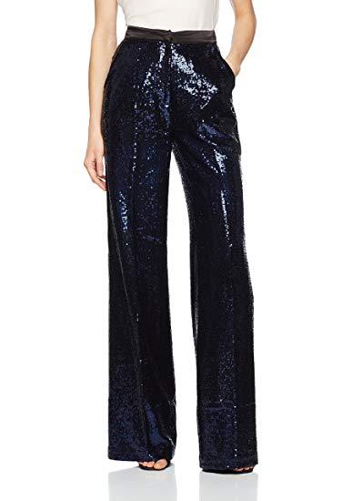 Millie Mackintosh Women's Sequin Sparkle Trouser in Midnight