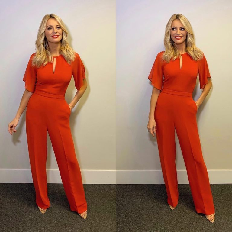 Where to get Tess Daly red jumpsuit Christmas Special December 2018