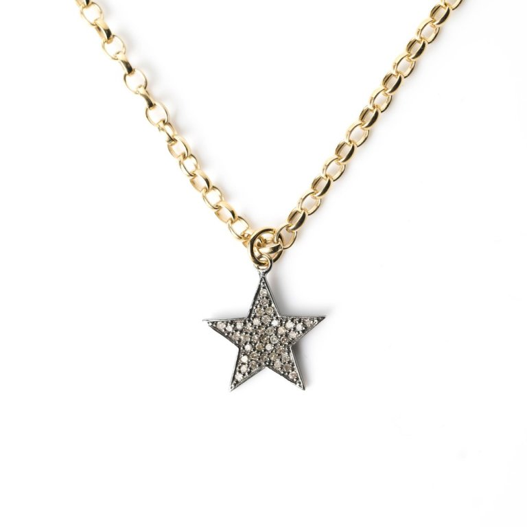 Kirstie Le Marque Diamond Chunky Star Necklace