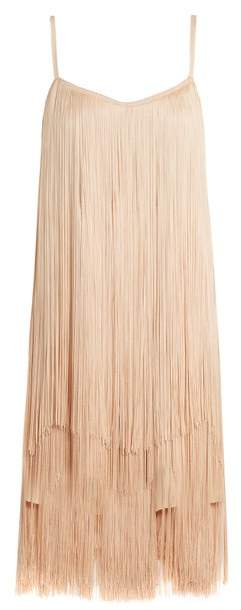 Raey Long Fringe Slip Dress