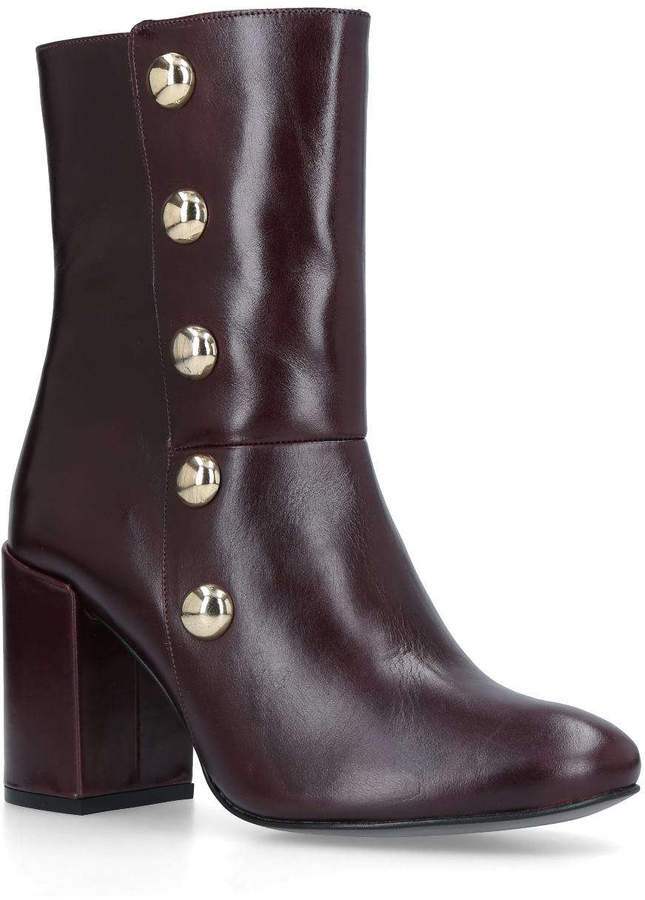 carvela soldier block heeled ankle boots