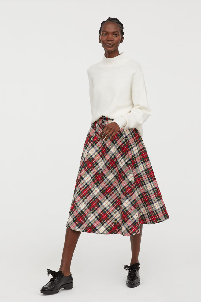 h&m bell-shaped skirt