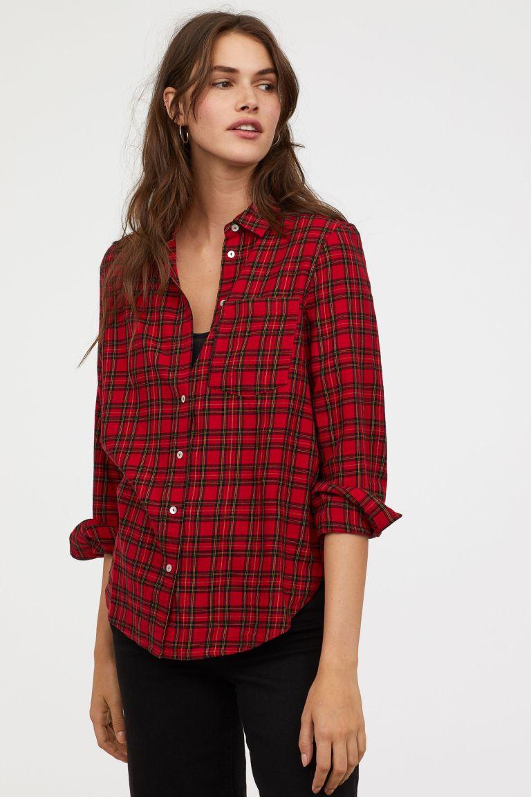 h&m checked shirt