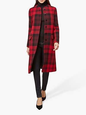 Hobbs Lavinia Check Coat