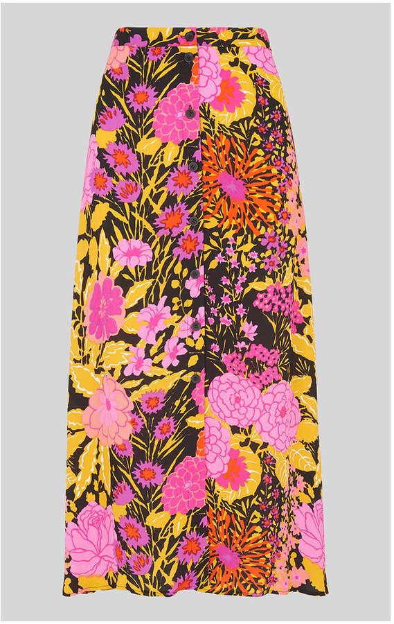 whistles luella bloom print skirt