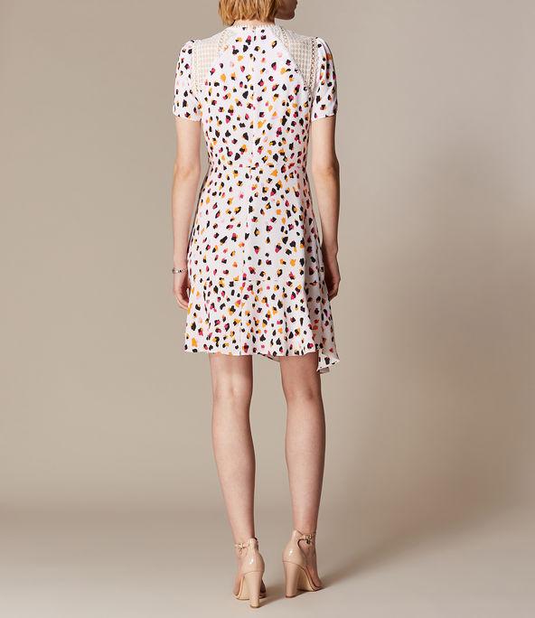 Karen Millen Asymmetric Leopard Lace Dress back view