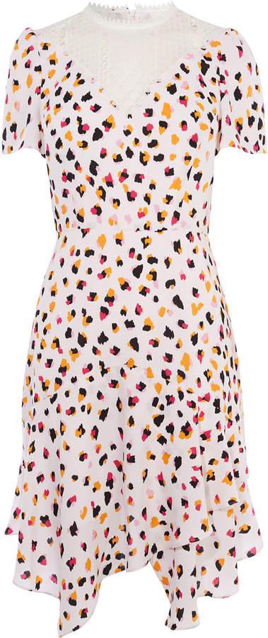 Karen Millen Asymmetric Leopard Lace Dress